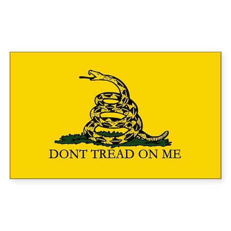 Don't Tread on Me Rectangle Sticker 10 pk)
