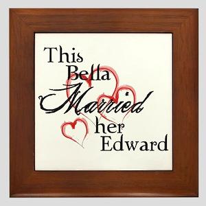 Bella married Edward Framed Tile