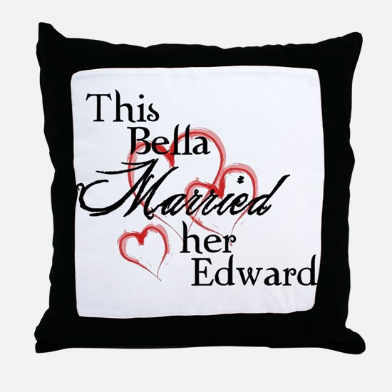 Bella married Edward Throw Pillow