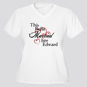 Bella married Edward Women's Plus Size V-Neck T-Sh