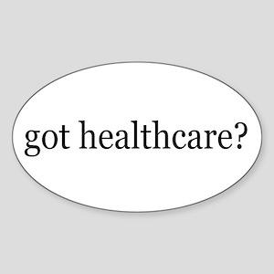got healthcare? (Pubic Option) Oval Sticker