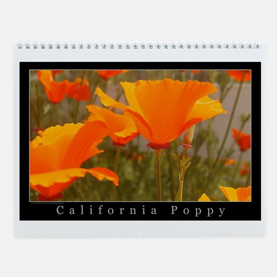 California Poppy Yearly Wall Calendar