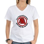 Star Trek Red Shirt Warning Women's V-Neck T-Shirt