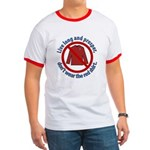 Star Trek Red Shirt Ban Greeting Ringer T