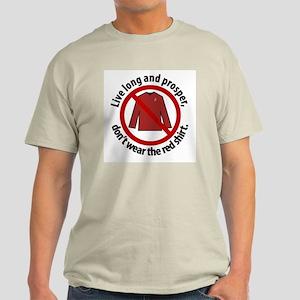 Star Trek Red Shirt Warning Light T-Shirt