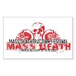 Mass Deathtruction Rectangle Sticker