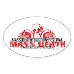 Mass Deathtruction Oval Sticker (10 pk)