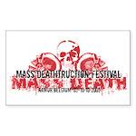 Mass Deathtruction Rectangle Sticker 10 pk)
