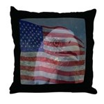 Patriotic Themes Throw Pillow