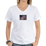 Patriotic Themes Women's V-Neck T-Shirt