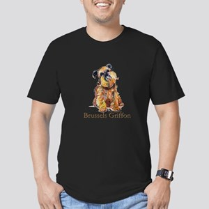 Brussels Griffon Men's Fitted T-Shirt (dark)