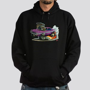 Dodge Challenger Purple Car Hoodie (dark)