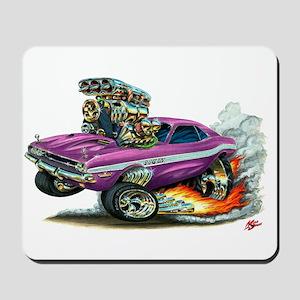 Dodge Challenger Purple Car Mousepad