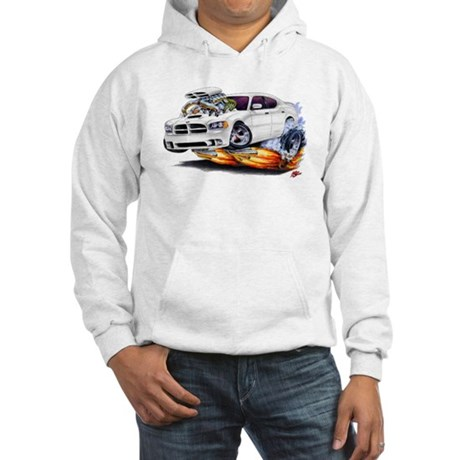 Dodge Charger White Car Hooded Sweatshirt