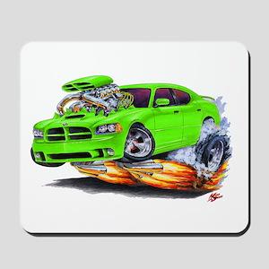 Dodge Charger Green Car Mousepad