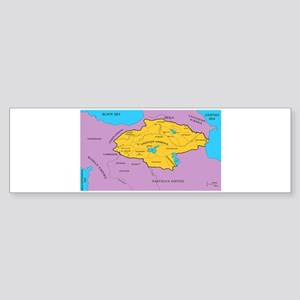 Arsacid / Arshakuni Map Bumper Sticker