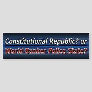 World Banker Politics - Sticker