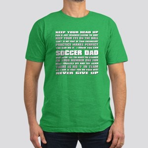 Soccer Dad Quotes Men's Fitted T-Shirt (dark)