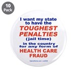 "Toughest Penalties 3.5"" Button (10 pack)"