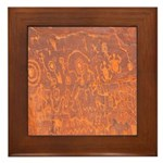 Framed Tile - Petroglyphs