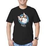 Kitty Kind Blue Eyes Snowshoe Cat Men's Fitted T-S
