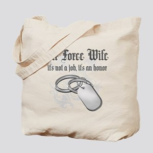 Air Force Wife - It's not a J Tote Bag