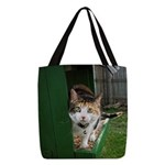 Sneeky Kitty Polyester Tote Bag