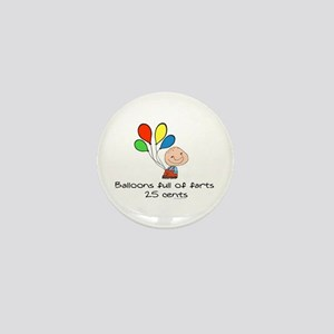 Balloons full of farts.. Mini Button