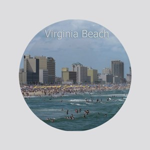 "Virginia Beach - Beachfront 3.5"" Button"