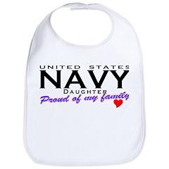 US Navy Daughter Bib