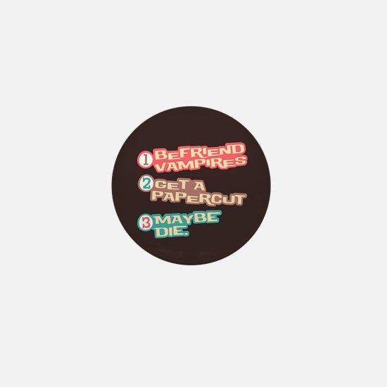 New Moon Papercut Mini Button