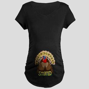 Thanksgiving Turkey Maternity Dark T-Shirt