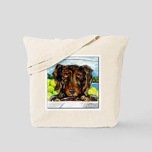 Dacshund Drives to Beach Tote Bag