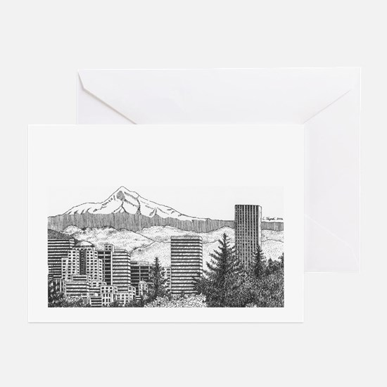 Portland/Mt. Hood Greeting Cards (Pk of 20)