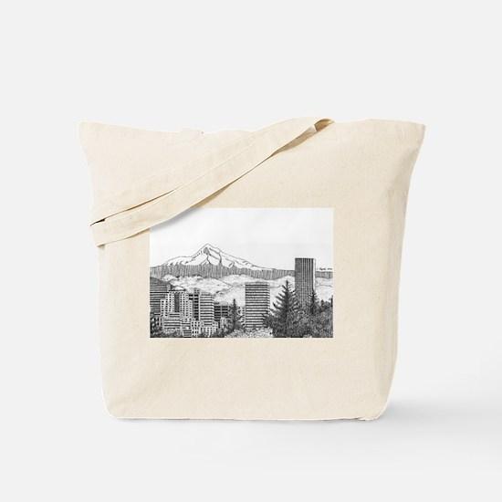 Portland/Mt. Hood Tote Bag