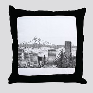 Portland/Mt. Hood Throw Pillow