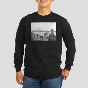 Portland/Mt. Hood Long Sleeve Dark T-Shirt