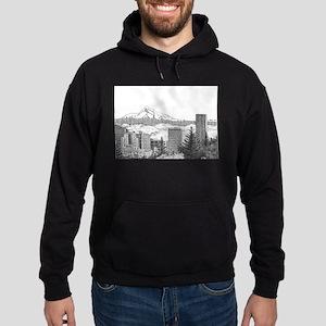 Portland/Mt. Hood Hoodie (dark)