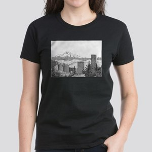 Portland/Mt. Hood Women's Dark T-Shirt