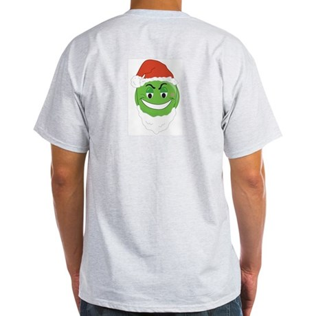 GRINCH SMILEY! Ash Grey T-Shirt