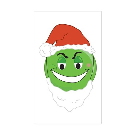 GRINCH SMILEY! Rectangle Sticker