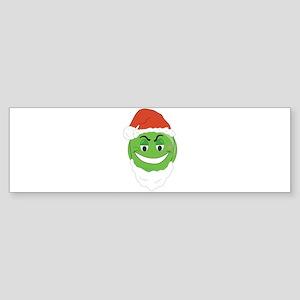GRINCH SMILEY! Bumper Sticker