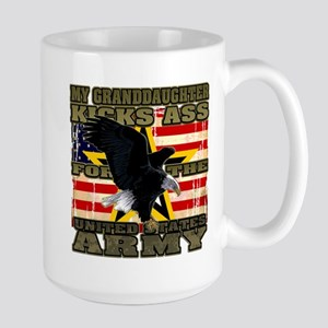 Army Granddaughter Large Mug