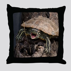 Mad Turtle Throw Pillow