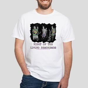 Night Of The Living Deadheads White T-Shirt