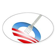 Stick a Fork In It Oval Sticker (50 pk)