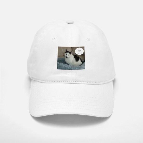 Funny White and Black Cat Baseball Baseball Cap