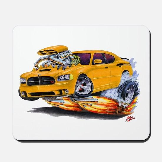 Charger Daytona Orange Car Mousepad