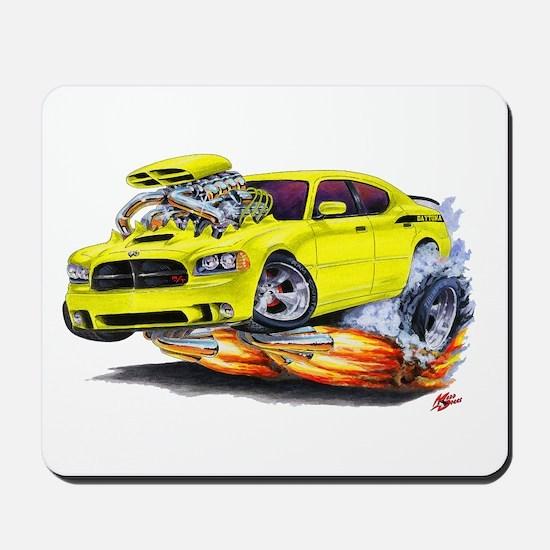 Charger Daytona Yellow Car Mousepad