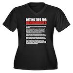 Dating Tips Women's Plus Size V-Neck Dark T-Shirt